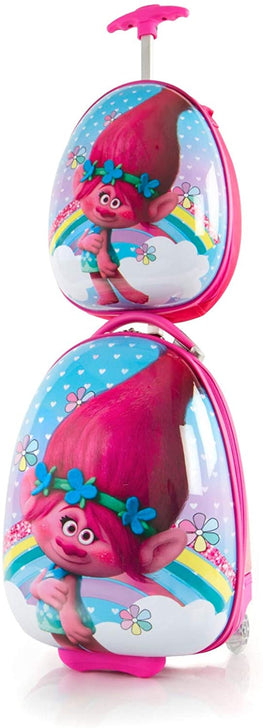 DreamWorks Egg Shape Trolls Kids Luggage and Backpack Set