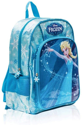 Disney Frozen II Elsa Deluxe Backpack for Girls 16 Inch School Bag - Blue