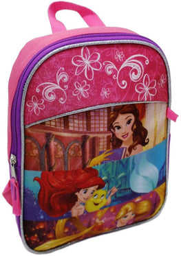 Disney Princess Backpack with Pencil Case Set - 12 Inch School Bag for Kids [Pink]