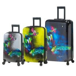 "Mia Toro Prado - Butterfly Kiss Hardside Spinner Luggage 3pc Set - 20"", 24"" & 28"""