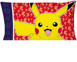 Pokemon Pillowcase Pika Pika Pikachu Reversible Pillowcase for Kids - 20 X 30 Inch (1 Piece Pillow Case Only)