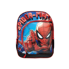"Marvel Spider-Man Deluxe Backpack 3D Depth 16"" Bag for Kid's - Blue"