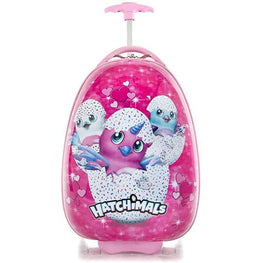 Hatchimals 18 Inch Egg Shape Hardside Luggage Suitcase for Kids [Pink]