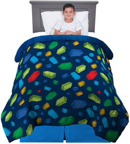 "Lego Super Soft Reversible Comforter, Twin/Full Size 72"" x 86"""