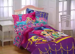 Shimmer and Shine Magical Wonders Twin/Full Comforter with Twin Sheet Set Kids Bedding Set 4 Piece