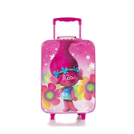 Trolls Brand New Classic Designed Kids Basic Soft Side Luggage 17 Inch