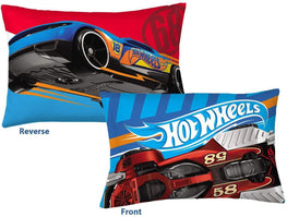 Hot Wheels Pillowcase Fast Pace Reversible Pillowcase for Kids - 20 X 30 Inch (1 Piece Pillow Case Only)