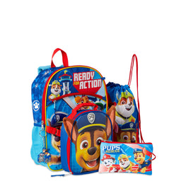 Paw Patrol 5 Piece Large Backpack Set for Kids-Multicolor