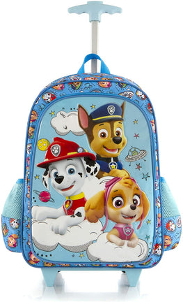 "Paw Patrol 16"" Travel Rolling Backpack With Shoulder Strap-Multicolor"