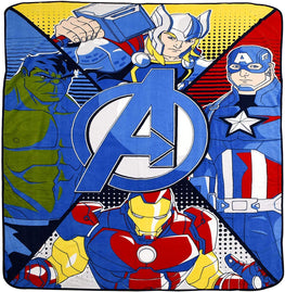 Marvel Avengers Plush Blanket for Kids Thor Iron Man Hulk Captain America Blanket - 60 x 80 cm