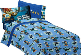 LEGO Chima Unleash The Power Kids 3 Piece Twin Sheet Set - Blue