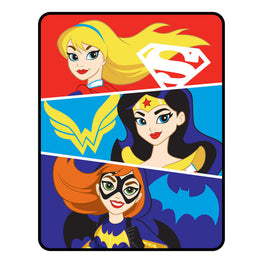 DC Super Hero Girls Bat Girl Wonder Woman Super Girl Strong Heroes Throw Blanket - 46 x 60 Inch