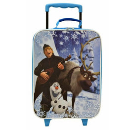 New Disney Frozen Kristoff Sven & Olaf Rolling Luggage Trolley Official License
