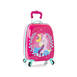 Unicorn Fashion Spinner Hardside Rolling Luggage for Kids - 18 Inch [Pink]