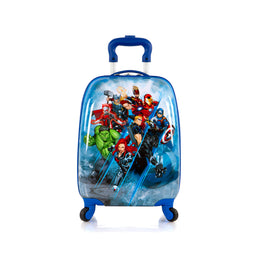 Marvel Avengers Hardside Spinner Rolling Luggage for Kids - 18 Inch[Blue]