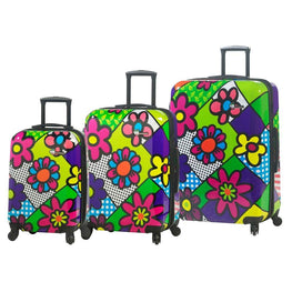 Mia Toro Hardside Spinner Luggage Set - 3 piece