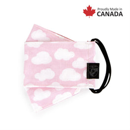 KIDS REUSABLE FASHION FACE MASK - PINK CLOUD