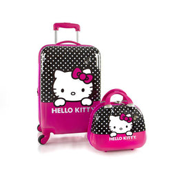"Hello Kitty Unisex 21"" Spinner Luggage & Beauty Case"