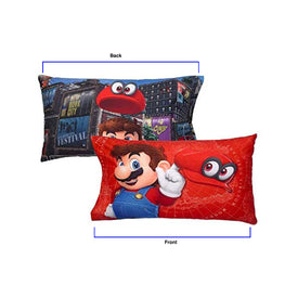 Super Mario Odyssey Reversible Pillowcase for Kids - 20 X 30 Inch (1 Piece pillowcase only)