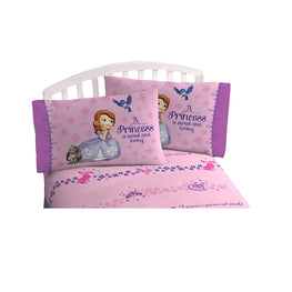 Princess Sofia Bedding Sheet Full Sheet Set for Kids - 4 Piece