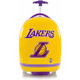 Los Angeles Lakers Hardside Carry on Wheeled Luggage for Boys - 18 Inch