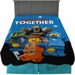 "Lego Movie Super Soft Plush Blanket Twin/Full Size 62"" x 90"""