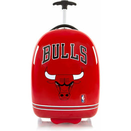 Chicago Bulls Hardside Carry on Wheeled Luggage for Boys - 18 Inch