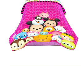 "Disney Tsum Tsum Twin/Full Comforter for Kids - 72"" x 86"""