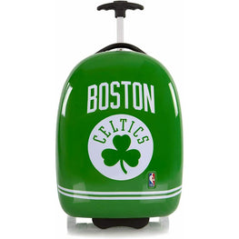 Boston Celtics Hardside Carry on Wheeled Luggage for Boys - 18 Inch