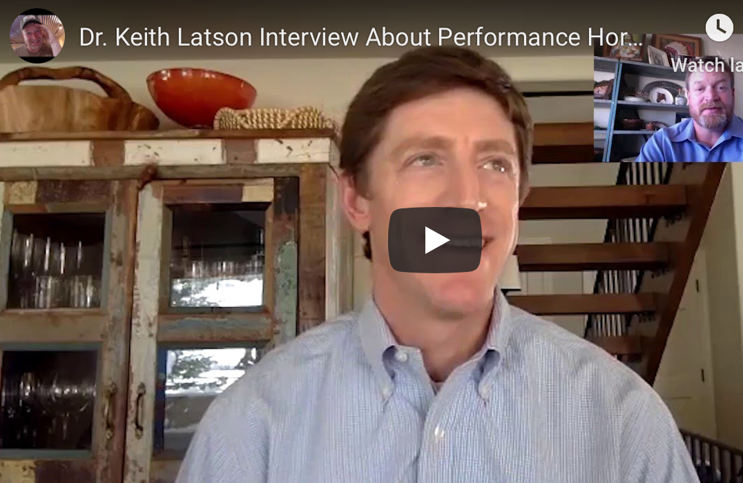 Dr. Keith Latson Interview About Performance Horse, Feed Programs