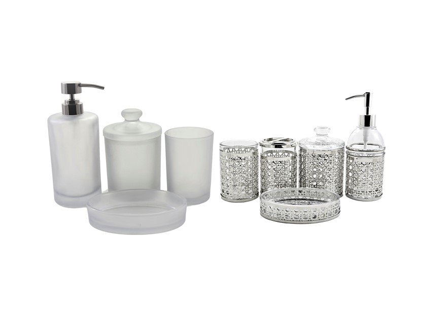 glass bathroom accessories sets | nature_home_decor