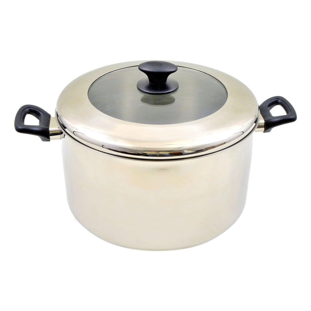 16 Qt Stock Pot | Stainless Steel - Nature Home Decor