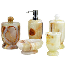 Load image into Gallery viewer, 5 Piece Bathroom Accessory Set | Atlantic Collection in White Onyx - Nature Home Decor