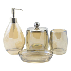 Angus Glass Bath Set of Champagne Collection - Nature Home Decor