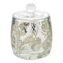 Load image into Gallery viewer, Angus Glass Bathroom Canister | Cotton Jar of Antlers Collection - Nature Home Decor