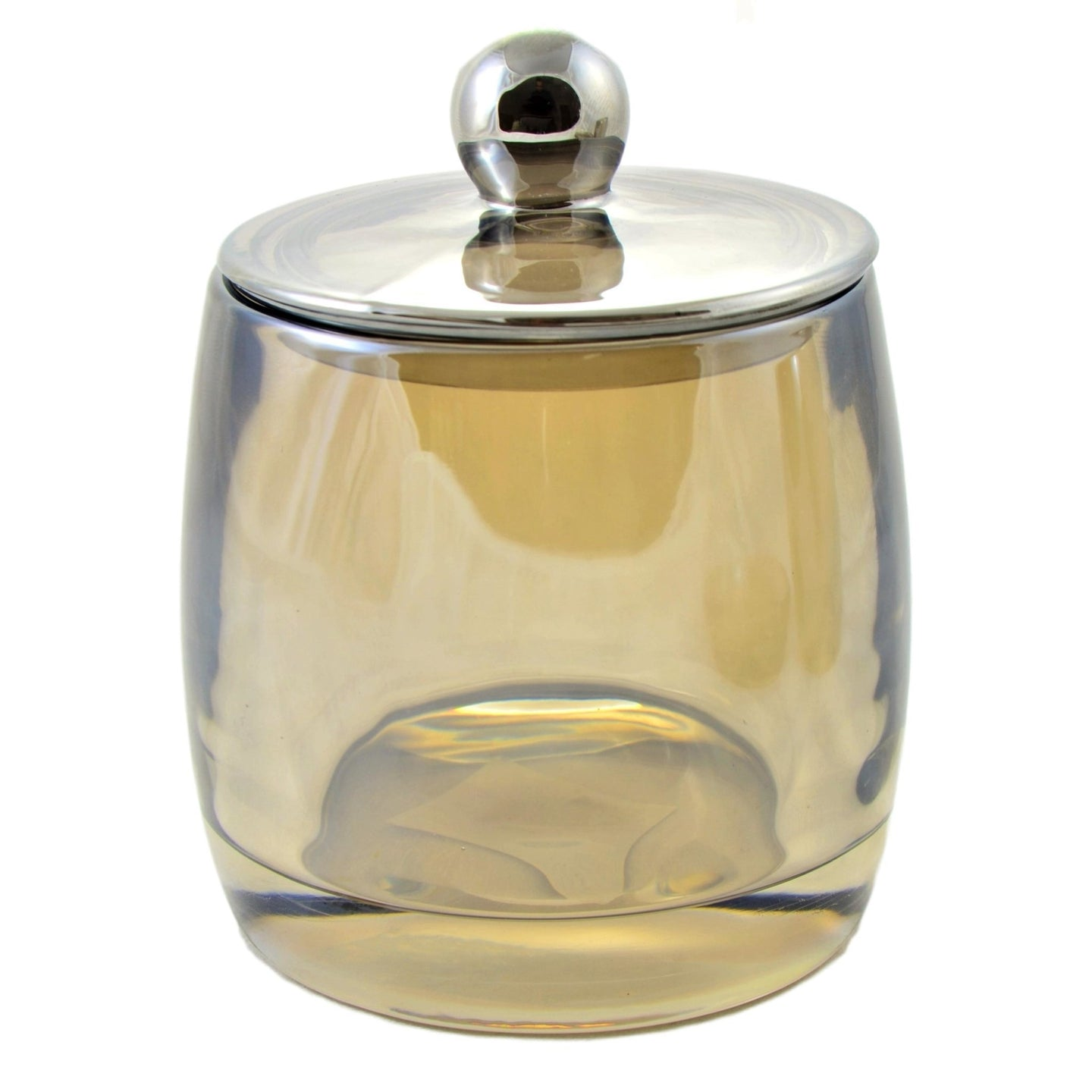 Angus Glass Bathroom Cotton Jar of Champagne Collection - Nature Home Decor