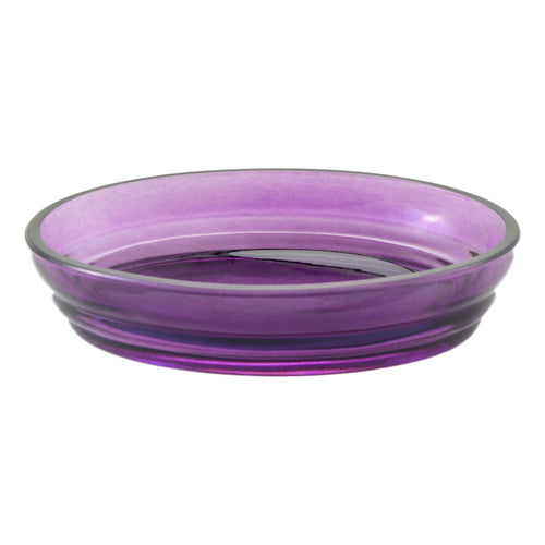Angus Glass Soap Dish of Ruby Collection - Nature Home Decor