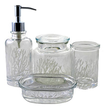 Load image into Gallery viewer, Arctic Collection 4-Piece Glass Bath Set - Nature Home Decor