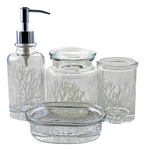 Arctic Collection 4-Piece Glass Bath Set - Nature Home Decor