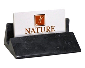 Black Marble Business Card Holder - Nature Home Decor