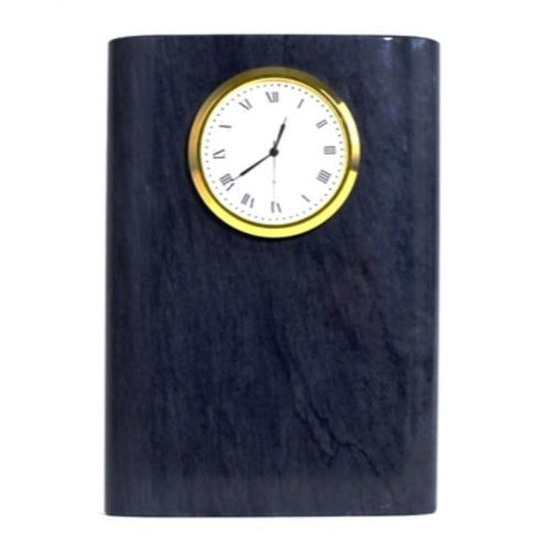 Black Marble Clock | 5-inch Tall Executive Desk Clock - Nature Home Decor