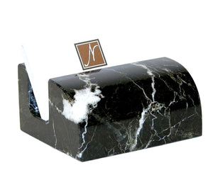 Black Zebra Marble Business Card Holder - Nature Home Decor
