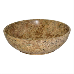 Classic 8-inches Fossil Stone Fruit Bowl - Nature Home Decor