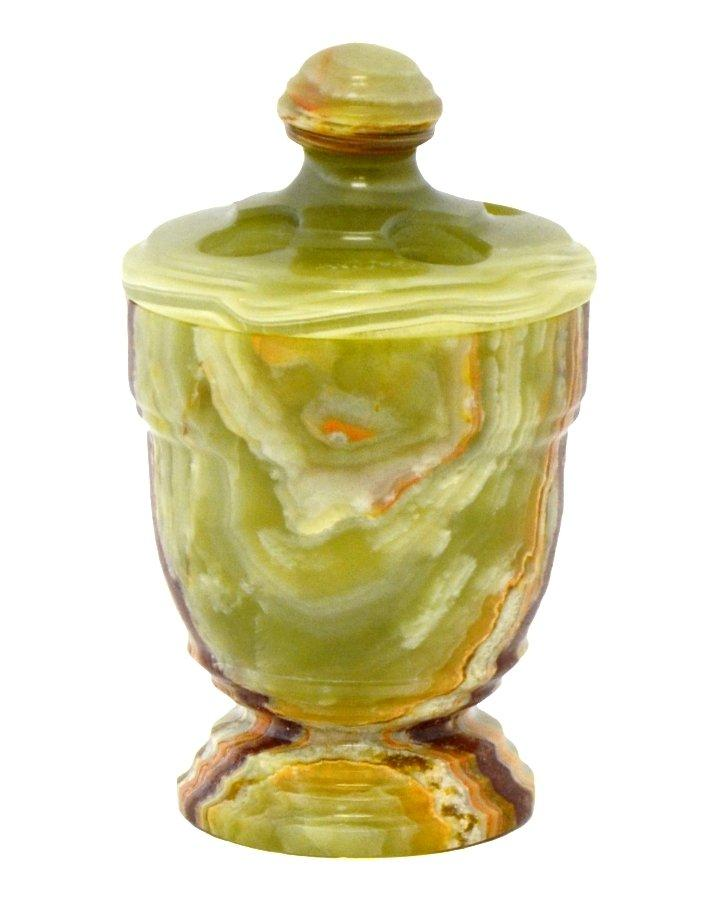 Classic Green Onyx Toothbrush Holder - Nature Home Decor