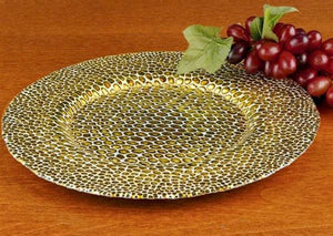 Crystal Glass 13-inches Charger Plate - Nature Home Decor