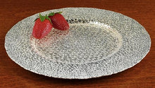 Load image into Gallery viewer, Crystal Glass Serving Platter with SilverLeaf Snakeskin Design - Nature Home Decor