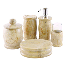 Load image into Gallery viewer, Elegant bathroom accessories sets | Sahara Beige Marble - Nature Home Decor