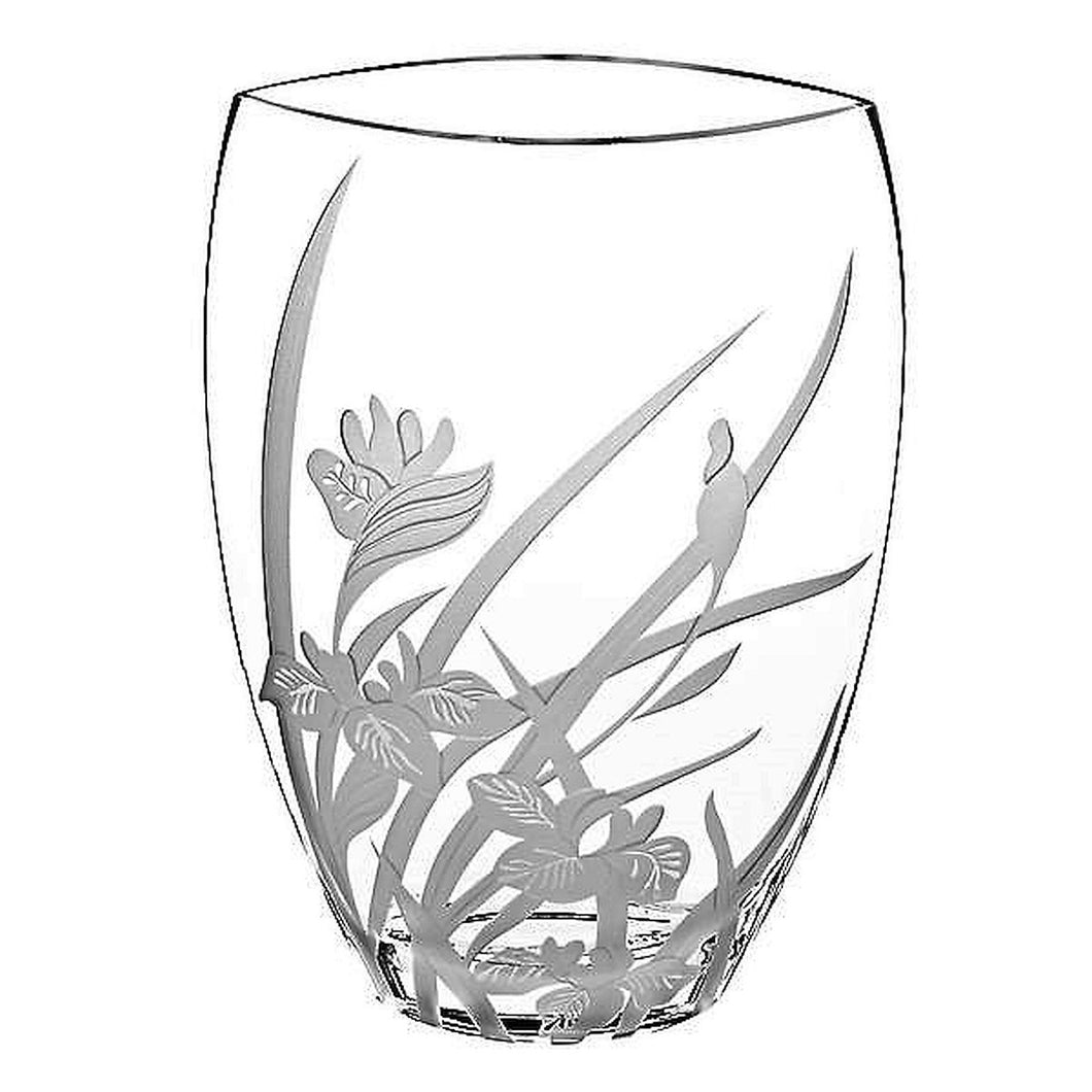 Everglade 12-inch Crystal Decorative Vase - Nature Home Decor