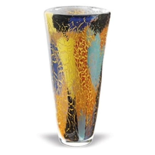 Firestorm 12 inch Art Glass Decorative Vase - Nature Home Decor