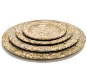 Fossil Stone 12-inch Serving Platter - Nature Home Decor